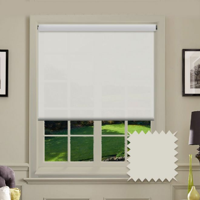 Cream Roller Blind - Astral Modesty Plain - Just Blinds